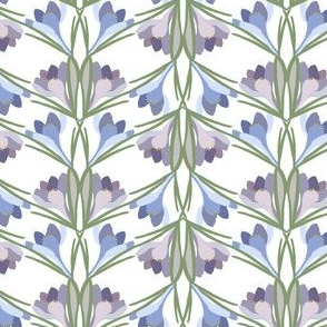 Spring Crocus, Purple, Periwinkle, Green