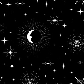 moon, stars, sun and all-seeing eye (large scale)