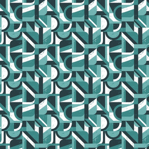 Bauhaus small geometric - teal