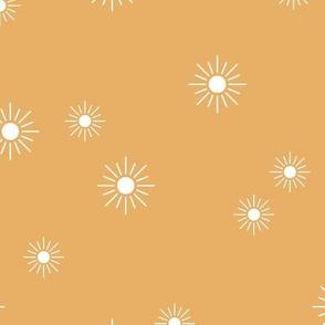 The minimalist sunny day sunshine boho sun sky nursery mustard yellow ochre