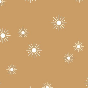 The minimalist sunny day sunshine boho sun sky nursery cinnamon brown latte