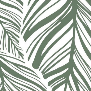 Extra Large Interlocking Leaves Green