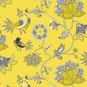 chintz yellow-gray