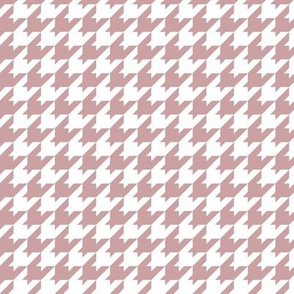 Houndstooth Pattern - Pale Mauve and White