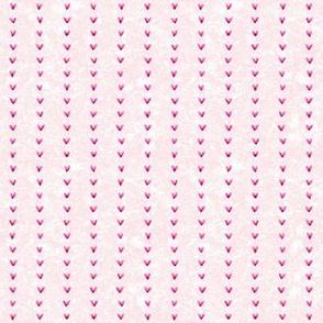 Watercolor Hearts Pink Stripe