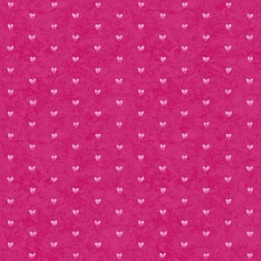 Watercolor Hearts Simple Deep Pink