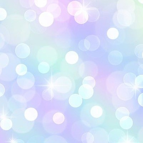 Jumbo Sparkly Bokeh Pattern - Marbled Unicorn Color Palette