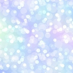 Sparkly Bokeh Pattern - Marbled Unicorn Color Palette
