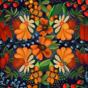 bouquet oil painting