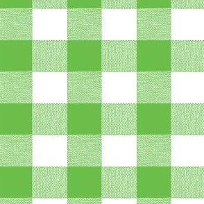 Green Gingham Large