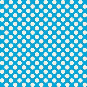 Retro Summer Geometrics dots on blue background