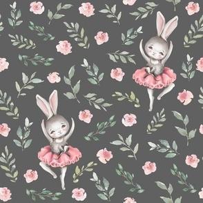 pink bunny grey