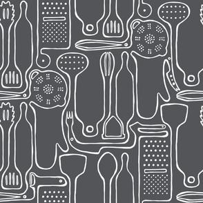 Together We Cook - Grey - Medium Scale