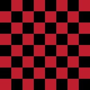 """checkerboard red and black 1"""" one inch"""