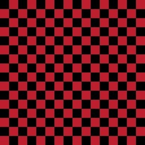 """checkerboard red and black .5"""" half inch"""