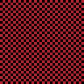 """checkerboard red and black .25"""" quarter inch"""