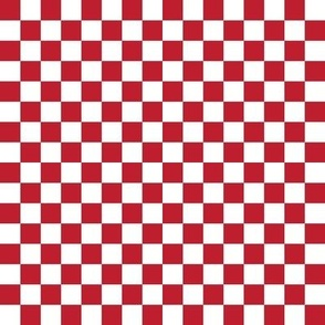 """.5"""" checkerboard red and white half inch squares - checkers chess"""