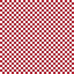 """.25"""" checkerboard red and white quarter inch squares - checkers chess"""