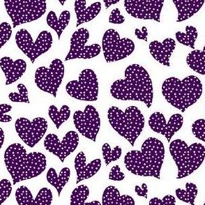 Dottie Hearts //Eggplant