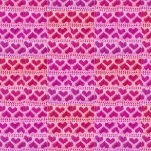 salmon_flamingo_melon_fuchsia_pink_purple_knitted_hearts