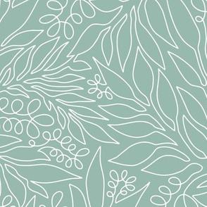 Contour Line Botanicals Sage Green