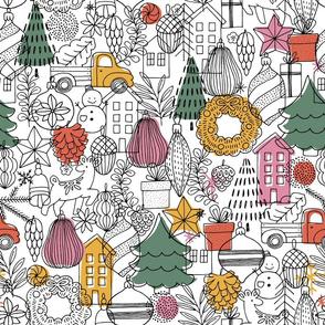 Cute minimalist Christmas