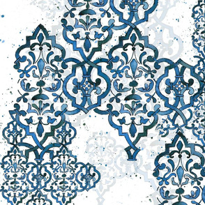 Deconstructed Damask blues
