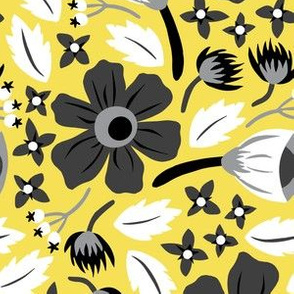 Papercut Floral (Yellow)