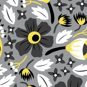 Papercut Floral (Gray)