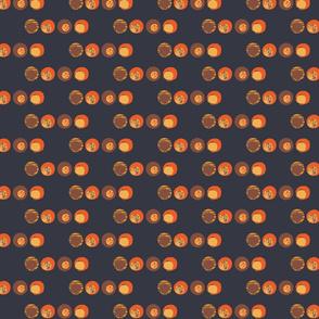 Retro Orange Spots