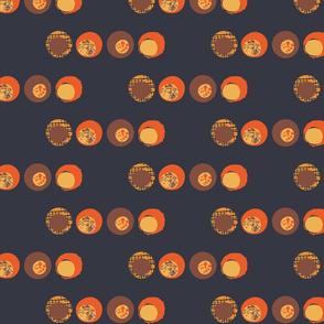 Retro Orange Spots - large