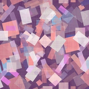 small scale pink geometric
