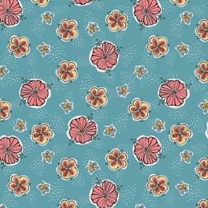 Fifties Flowers Main Pattern