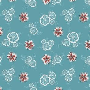Fifties Flowers Second Main pattern