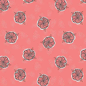 Fifties Flowers in pink