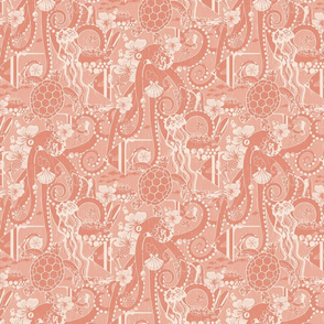 Tropical Hideaway - Coral - small