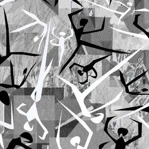 Geometric dancers grays sm