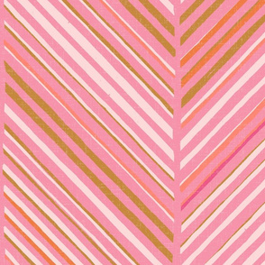 Papercut Herringbone M+M Bubblegum by Friztin