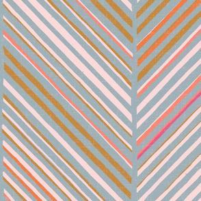 Papercut Herringbone M+M Slate by Friztin