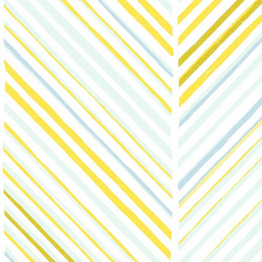 Papercut Herringbone M+M White Yolk Large Scale by Friztin