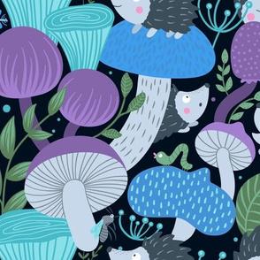 Mushrooms And Hedgehogs