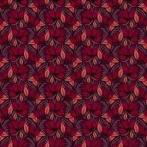 Crimson hibiscus small