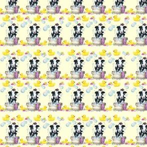 Moo Updo Pattern 2 on yellow