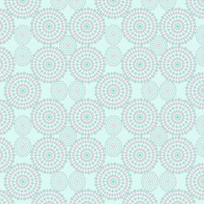 Mandalas pattern on mint