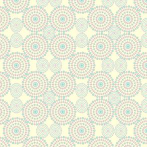 Mandalas pattern on yellow