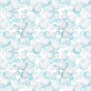 Soap Bubble Pattern on white