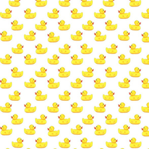 Ducks in a row pattern on white