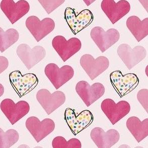 confetti hearts- small