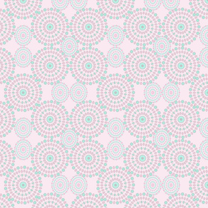 Mandalas pattern on pink