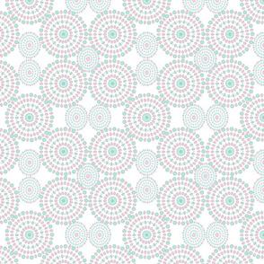 Mandalas pattern on white